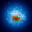 Vector Christmas background with holly