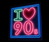 I love the 90s neon poster
