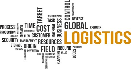 word cloud - logistics