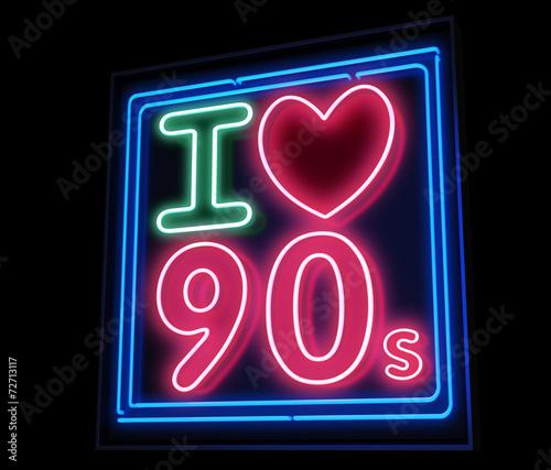 Uwielbiam neony lat 90