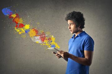 Exploding colours