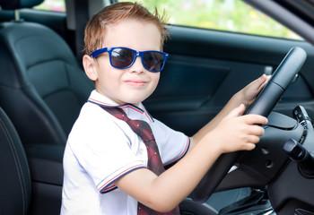Cute driver in car