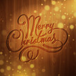 Christmas decoration on the wooden background. Vector background
