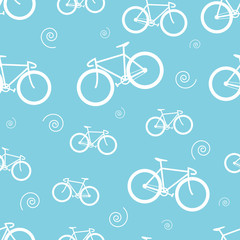 Seamless pattern with bicycle