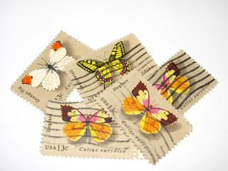 Francobolli farfalle