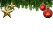 Weihnachten Hintergrund weiss Stern rot und Stern