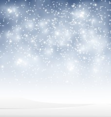 Winter background with snow for you design