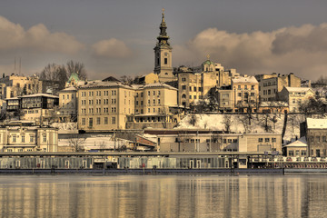 Belgrade, Serbia - from the river Sava