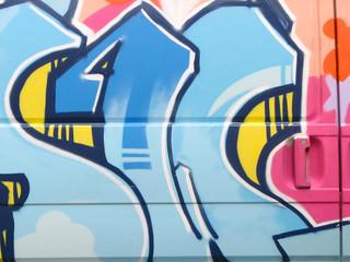Graffiti su veicolo