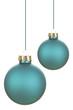 canvas print picture - Blaue Weihnachtskugeln