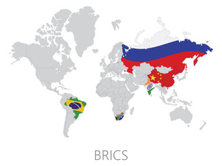 BRICS on world map