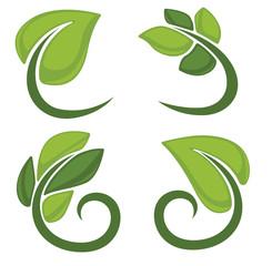green leaf signs and symbols