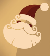 Santa Claus image in flat style