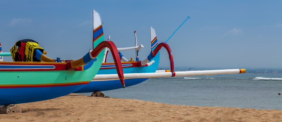 Two colorful boats