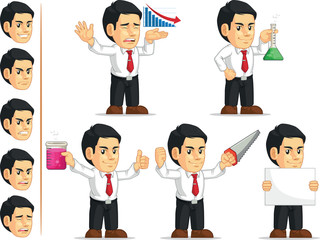 Office Worker Customizable Mascot 5