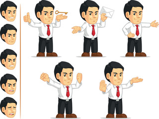 Office Worker Customizable Mascot 13