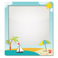 "frame for photo ""Summer vacation at the beach"""