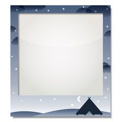 "frame for photo ""Winter Landscape, outdoor tent"""