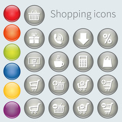 button shopping icons