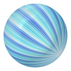 Ball created from abstract blue rays