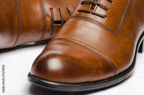 canvas print picture Men's Brown Shoes