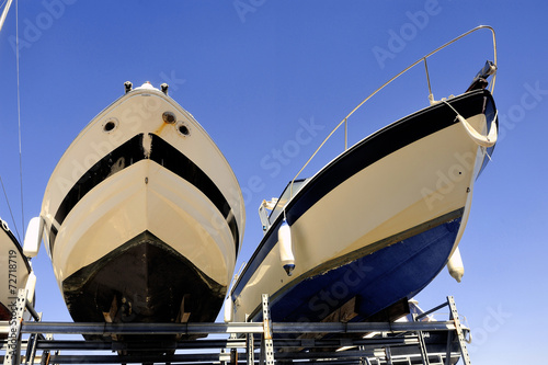 canvas print picture company of guarding and storage of boats
