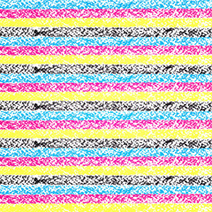 Vector CMYK pastel crayon striped background