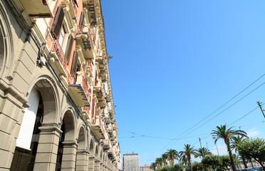 Via Roma buildings in Cagliari, Italy