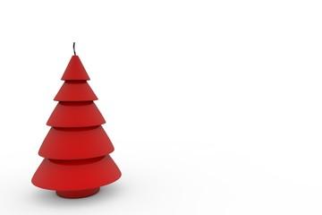 Rote Kerze Weihnachtsbaum