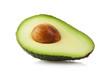 Halbe Avocado isoliert mit Beschneidungspfad - 72720312