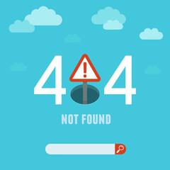 Vector 404 error page template