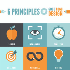 Vector 6 principles of good logo design