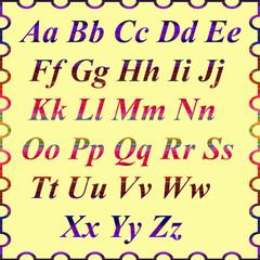 Алфавит английского языка