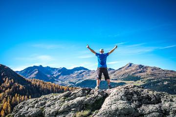 Gefühl von Freiheit in den Alpen