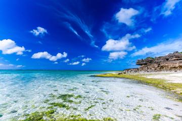 沖縄 今帰仁のビーチ