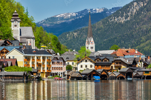 Leinwandbild Motiv Hallstatt village, Austria