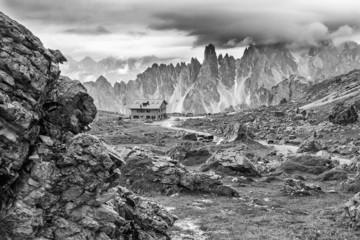 Almhütte im Gebirge