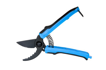 Small garden shears with colorful handles