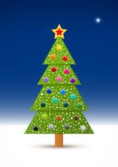 Decorated Christmas Tree & The Night Sky