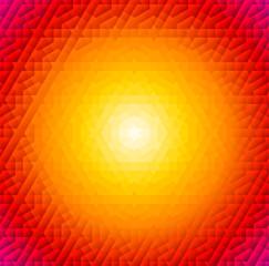 Round orange frame with arabic pattern