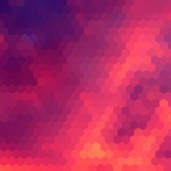 Sundown themed background with hex grid
