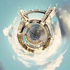 Awesome circular London landscape view