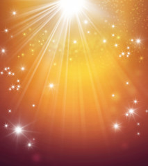 abstract shiny gold festive background