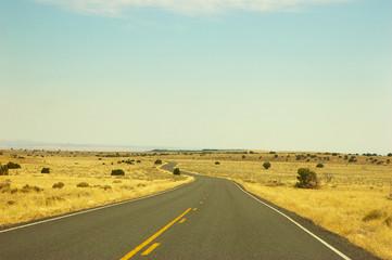 Winding road in high desert