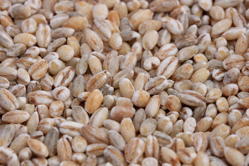 Extreme close-up of pearl barley