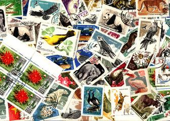 Nature. Soviet postage stamps