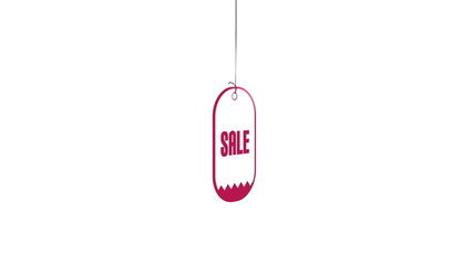 Tag sale on white background