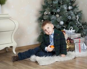 boy with orange
