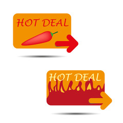 vector hot deal icons