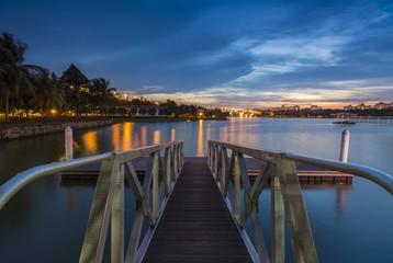 The Marina Bridge with a Nice Blue Hour Sunset